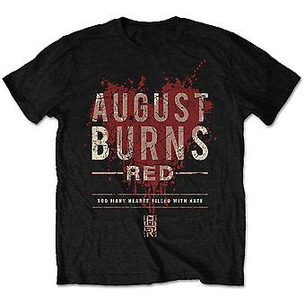 August Burns Red Hearts Filled Official Tee T-Shirt Mens Unisex