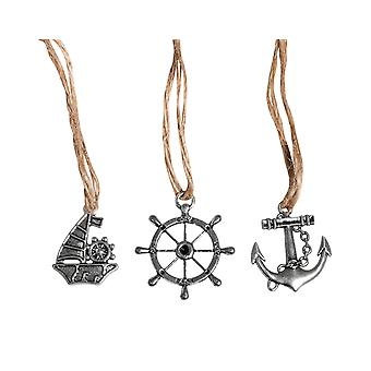 3 Metal Nautical Embellishments for Adults Crafts