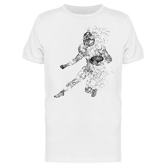 Fading Football Player Design Tee Men-apos;s -Image par Shutterstock