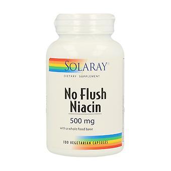 Geen Flush Niacine 100 plantaardige capsules van 500mg
