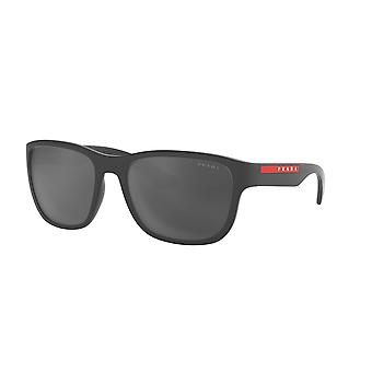 Prada Sport Linea Rossa SPS01U UFK5L0 Grey Rubber/Grey Mirror Black Sunglasses