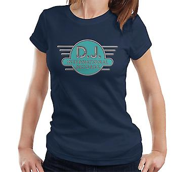 DJ International Records Cyan Logo Women's T-Shirt