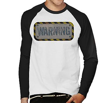 The Crystal Maze Warning Men's Baseball Long Sleeved T-Shirt