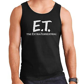 E.T. Retro Text Logo Men's Vest