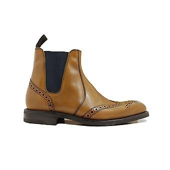 Loake Hoskins Tan Burnished Calf Leather Mens Chelsea Boots