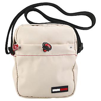 Tommy Jeans Campus Boy Mini Reporter Unisex Classic Side Bag in Stone