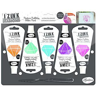 Aladine Izink Diamond Glitter Paint Kit Stars