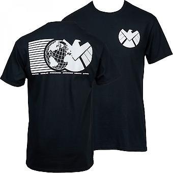 Marvel's S.H.I.E.L.D. Symbol Camiseta con Estampado Frontal y Trasero