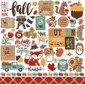 Echo Park feiern Herbst 12 x 12 Zoll Element Aufkleber