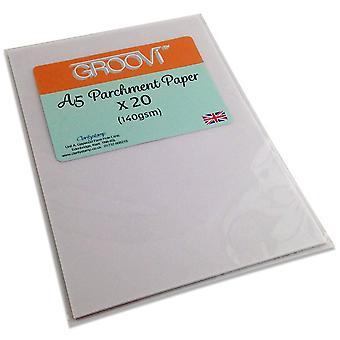 Groovi Perkament Papier A5 20 Vellen