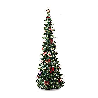 Christmas Tree 16 Inches Decorated Resin Christmas Tree