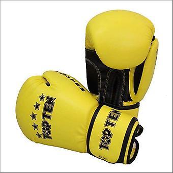 Topp tio R2M 2016 boxningshandskar 10oz gul/svart