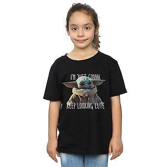 Star Wars Tytöt Mandalorian Pidä näköinen Söpö T-paita