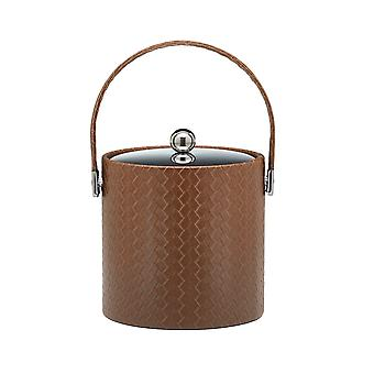 San Remo Pinecone 3 Qt Ice Bucket W/ Stitched Handle & Metal Cover