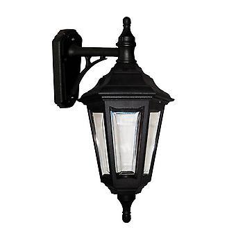 Elstead Kinsale - 1 luz de pared al aire libre linterna luz negro IP44, E27