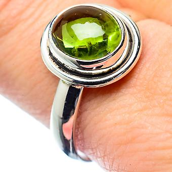 Peridot Ring Size 9.5 (925 Sterling Silver)  - Handmade Boho Vintage Jewelry RING26805