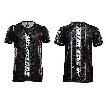 T-Shirt Muay Thai Top Thai Boxing MMA Sport Wear Unisex - (Black)