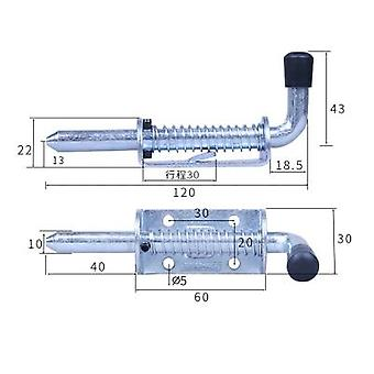 Acero Inoxidable 304 Industrial Heavy Iron Spring Mechanical Equipment Cabinets Boxcar Door Bolts