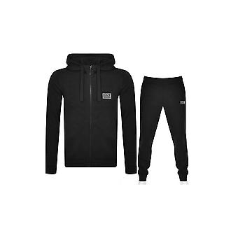 EA7 by Emporio Armani Cotton Black Hooded Tracksuit