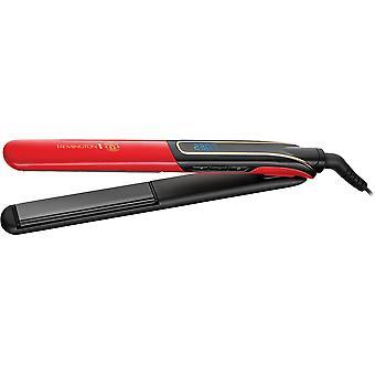 Lisser les cheveux en céramique Sleek & Curl avec tapis de chaleur et poche de rangement noir/rouge