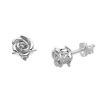 الندى الاسترليني الفضة الإنجليزية روز ستود أقراط 4631HP028