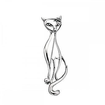 بدايات الجنيه الاسترليني الفضة D112 القط بروش