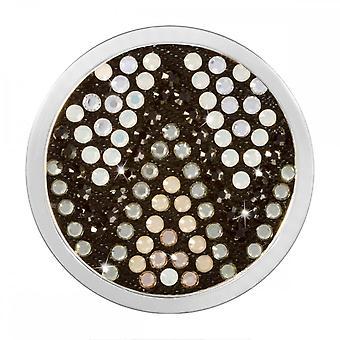 Nikki Lissoni Denim Dreams Aztec Black White Medium Silver Coin C1470SM