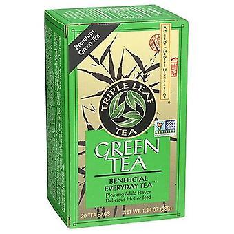 Triple Leaf Tea Green Premium Tea, 20 Bags