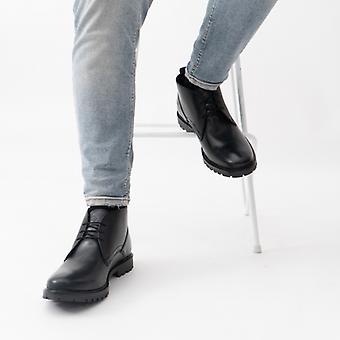 Base London Brady Mens Leather Chukka Boots Black