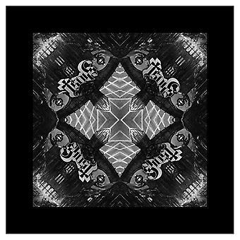 شبح باندانا Meliora ألبوم الشعار تكرار الأسود الرسمي الجديد (21in × 21in)