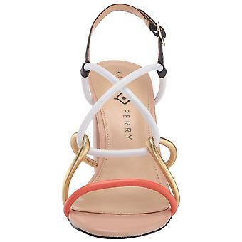 Katy Perry Womens the kendra-nappa Leather Peep Toe Casual Slingback Sandals