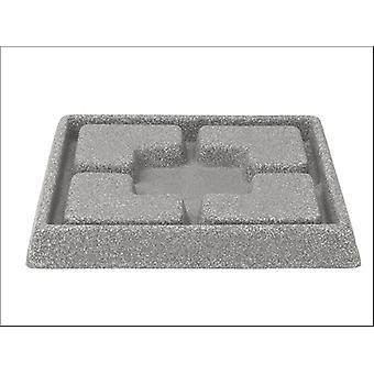 Stewart Decorative Saucer Square Grey 25cm 5134079
