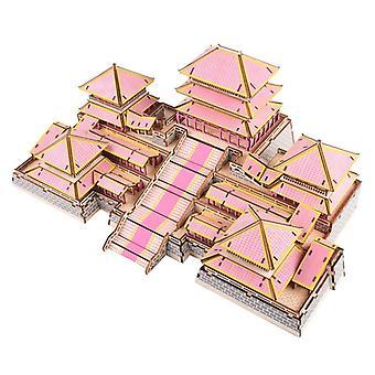 Kehittää lasten älykkyyttä Puinen 3D Puzzle 311 kappaletta - Afang Palace