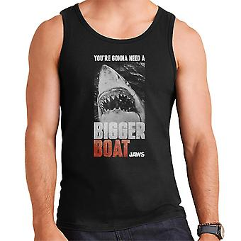 Jaws Bigger Boat Cinematic Scene Men's Vest