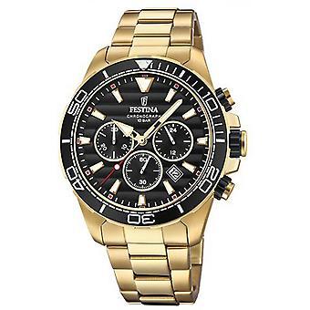 Prestige F20364 3 Festina horloge - horloge chronograaf stalen rood man
