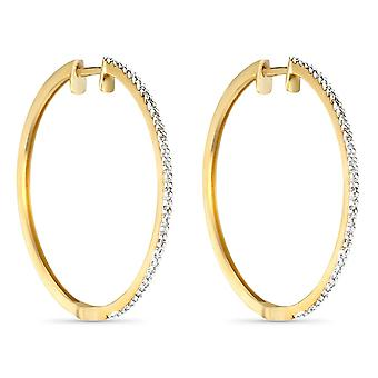 Boucles d'oreilles Or Jaune et Diamants 0,24 carat 'ELÉGANTES CRÉOLES'