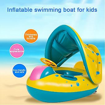 Summer Infant Swimming Ring Inflatable Pool Shaded Pool Toys- Swim Safely Seat