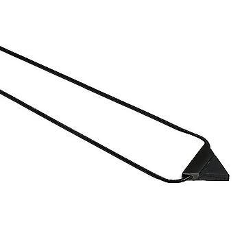Collier Triangle BeWooden Nox - Noir/Noir