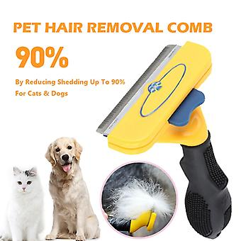 Più recente confortevole pet hair removal Pet Hair Removal Pet Cats Dog Grooming Comb Puppy Kitten Hair Shedding Trimmer Combs Pets Grooming Tools