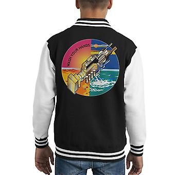 Wash Your Hands Robots Kid's Varsity Jacket