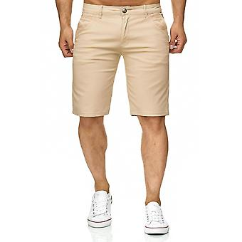 Men's Chino Shorts Casual Bermuda Shorts 3/4 Capri Light Summer Pants Trousers