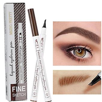 Waterproof, Natural And Four Claw Eyebrow Pen