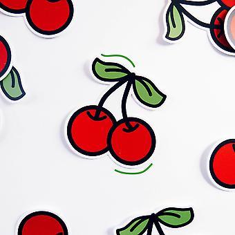Cherries Diecut Vinyl Sticker