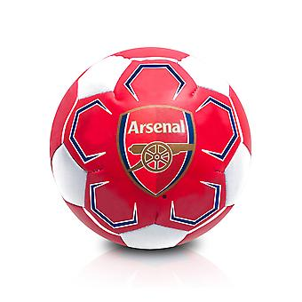 """Arsenal FC Official Supporter 4"""" Mini Soft Soccer Soccer Ball Rot/Weiß"""