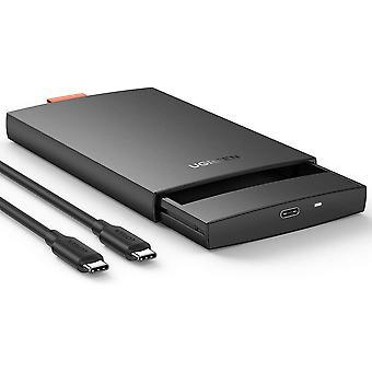 Amoy USB C Hard Drive Enclosure 2.5'' HDD Caddy USB 3.1 SSD Disk Reader Case