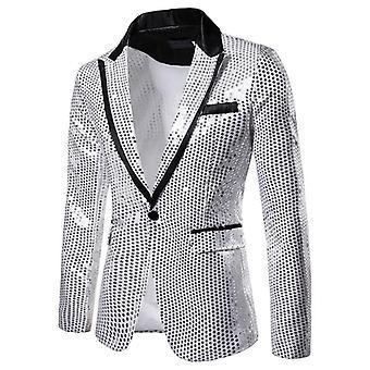 Miesten muodollinen sulhaspuku, Bleiseri lapel takki, yksi nappi, Slim Takki