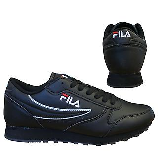 Fila Orbit Low Black Lace Up Casual Sports Damen Trainer 1010308 12V B15D
