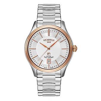 Roamer 703660 49 65 50 Rotopower Silver Tone Wristwatch