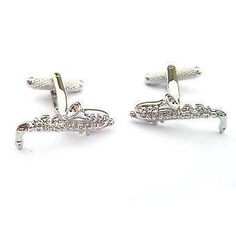 Saxophone Cufflinks by Onyx Art - Gift Boxed - Saxophonist Musical Cuff Links