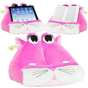 Cuddlyreaders book ipad tablet holder novelty ereader rest sofa pillow stand gift idea - kiki kitty